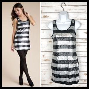 romeo + juliet couture // sequin striped dress